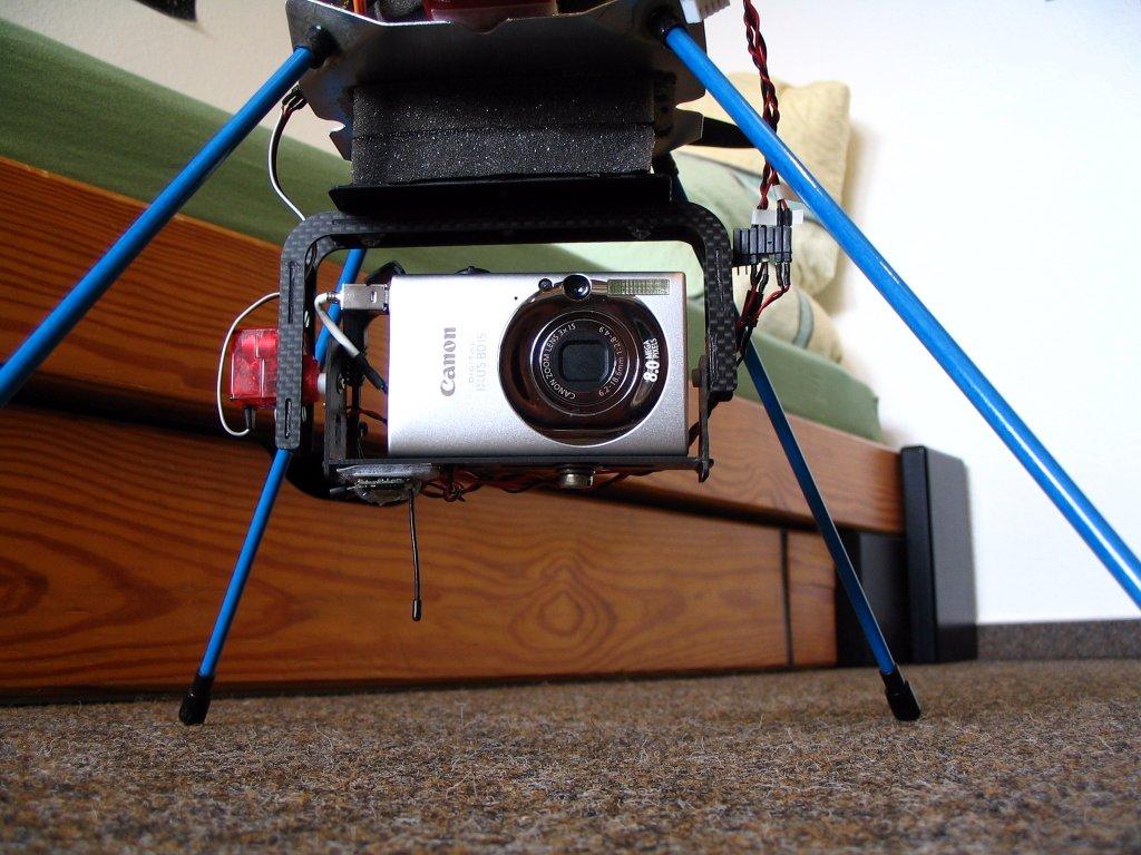 Kamerhaltung mit Ixus 80 - Vorderansicht